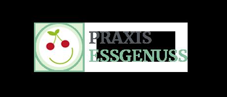 Logo Praxis Essgenuss, lachender Smiley mit Kirsche